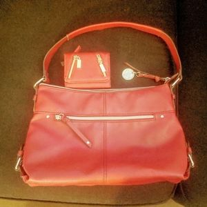 Relic Red Purse with matching Red Wallet